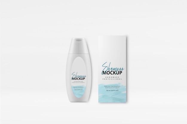 Mockup scatola shampoo