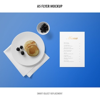 Mockup scheda menu