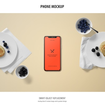 Mockup schermo del telefono