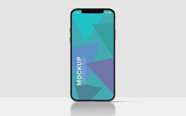 Mockup schermo premium per telefono cellulare