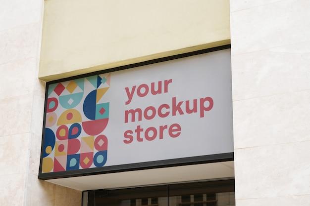 Mockup segno negozio città