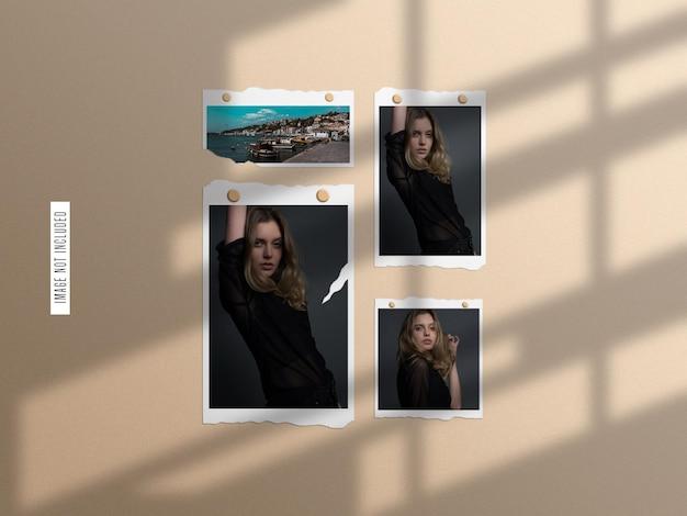 Mockup-set met gescheurd papier fotolijst