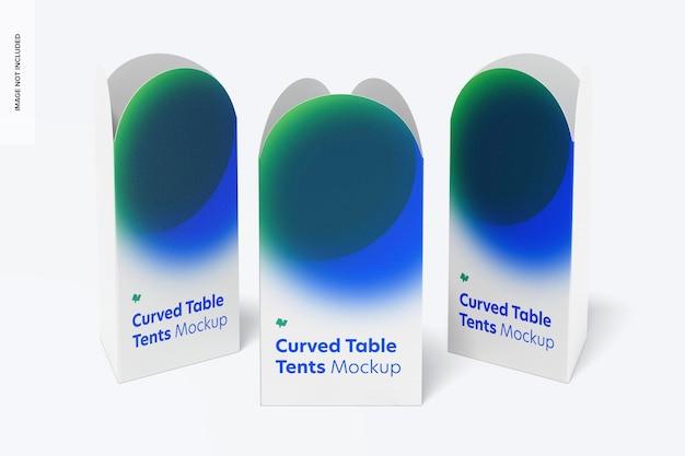 Mockup-set voor gebogen tafeltenten