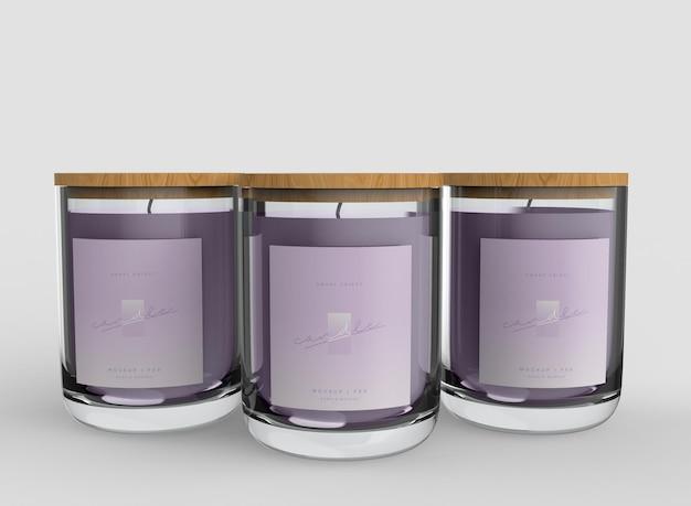 Mockup-set voor kaarsen