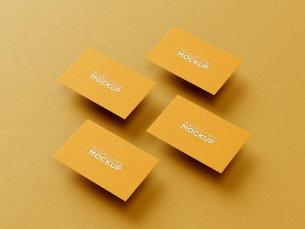 Mockup-set voor professionele visitekaartjes