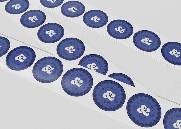 Mockup-set voor ronde stickers