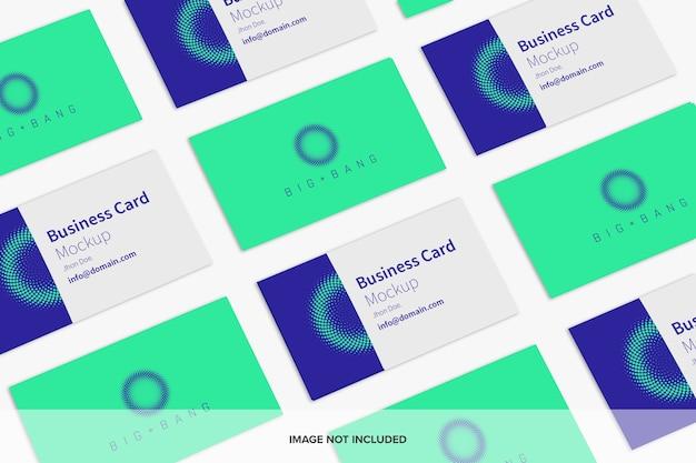 Mockup-set voor visitekaartjes