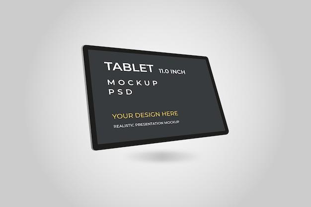 Mockup-sjabloon van 11 inch-tablet