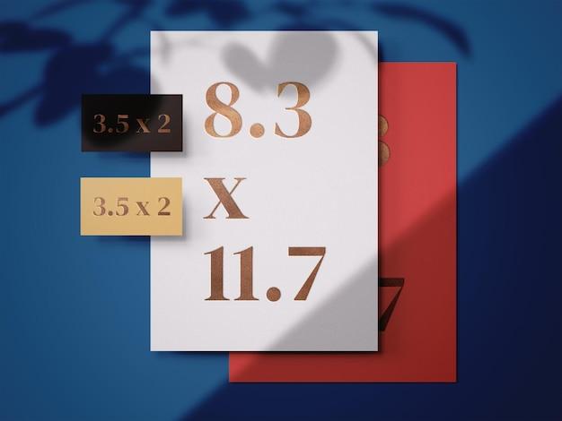 Mockup-sjabloon voor briefpapier afdrukken