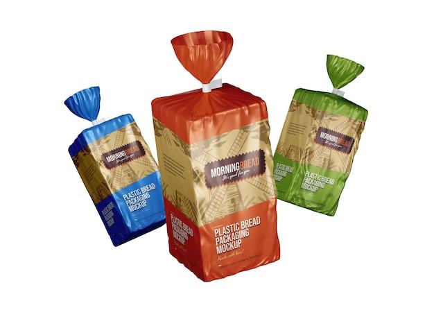 Mockup-sjabloon voor broodzakjes