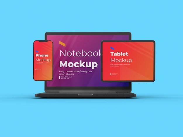 Mockup-sjabloon voor digitaal apparaat