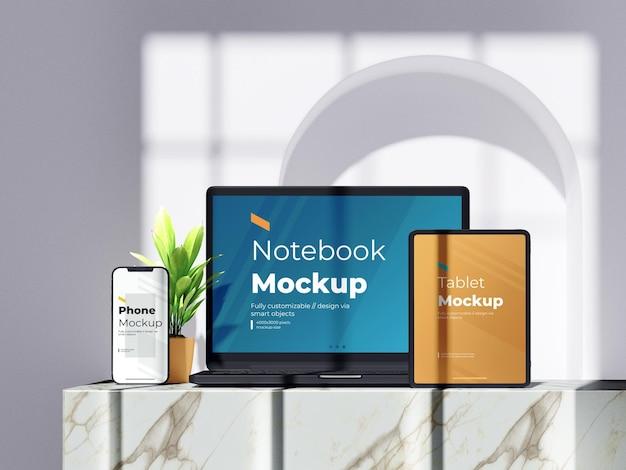 Mockup-sjabloon voor experimentele digitale apparaten