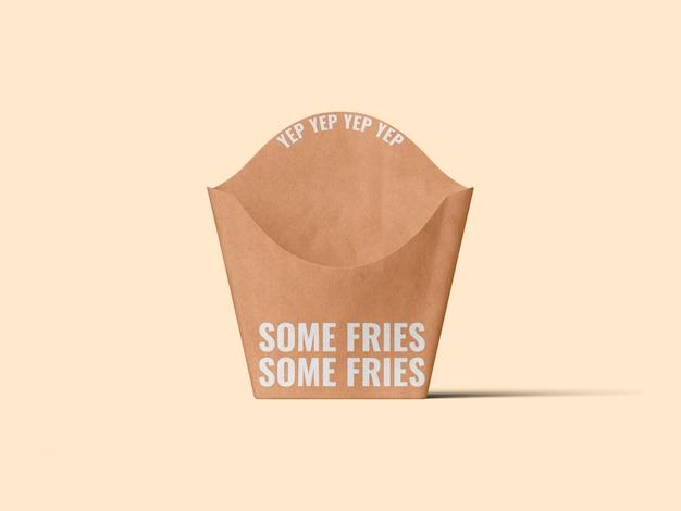 Mockup-sjabloon voor frietverpakking