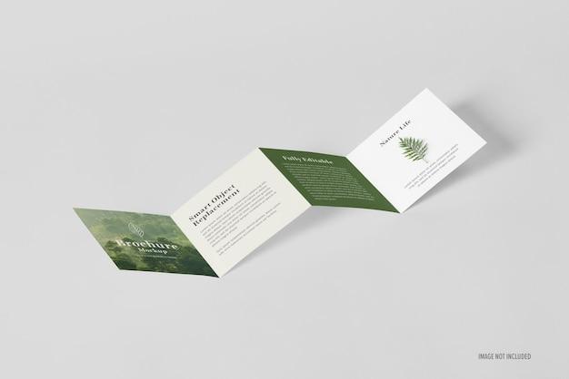 Mockup-sjabloon voor gevouwen brochure
