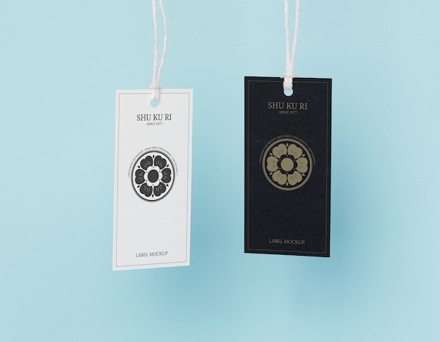 Mockup-sjabloon voor kledinglabellabels