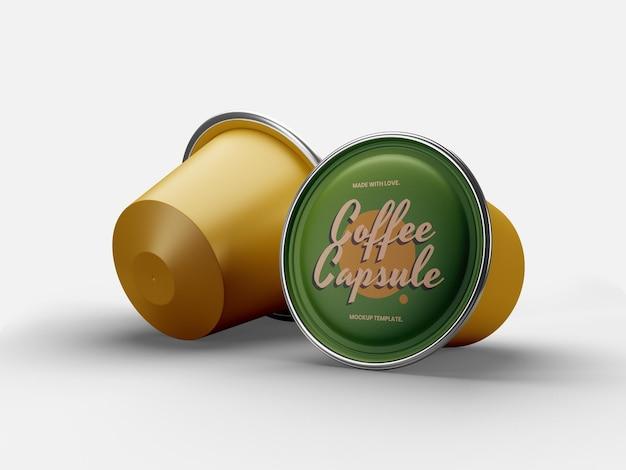 Mockup-sjabloon voor koffiecapsules
