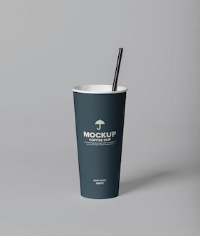 Mockup-sjabloon voor koffiekopjes