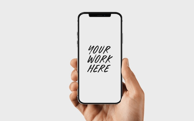 Mockup-sjabloon voor mobiele telefoonscherm