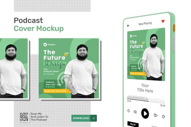 Mockup-sjabloon voor podcast-omslag