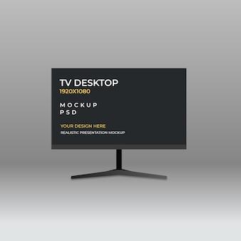 Mockup-sjabloon voor tv dsktop-monitor
