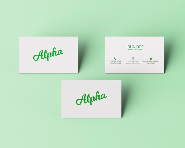Mockup slanding business card