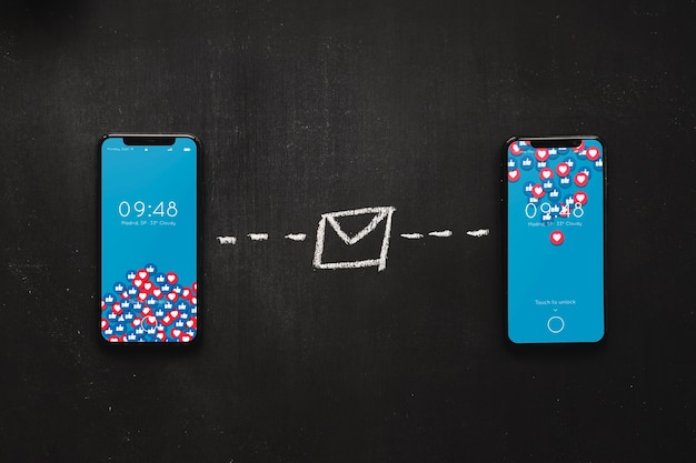 Mockup de smartphone con concepto de internet