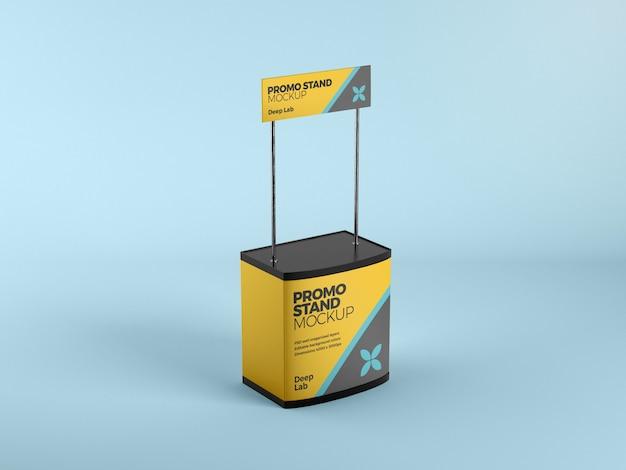 Mockup stand promozionale con psd a colori modificabili