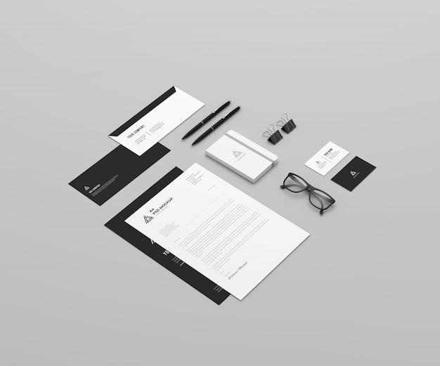 Mockup stazionario e di branding