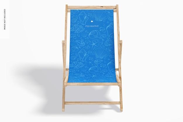 Mockup strandklapstoel, vooraanzicht