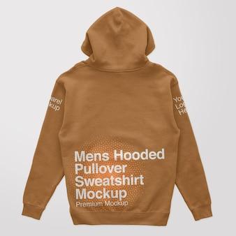 Mockup sweatshirt met capuchon voor heren