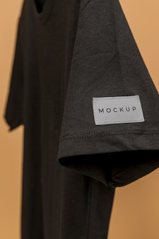 Mockup t-shirt close-up