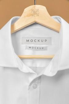 Mockup t-shirt close-up
