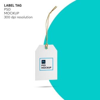Mockup tag etichetta
