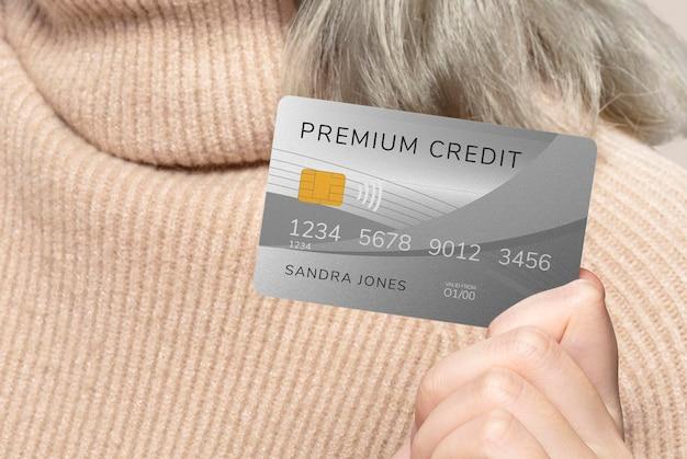 Mockup de tarjeta de crédito premium psd
