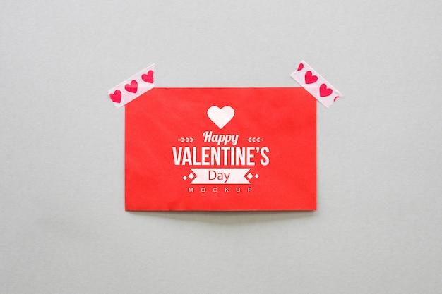 Mockup de tarjeta para san valentin