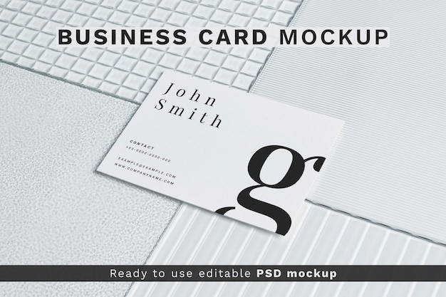 Mockup de tarjeta de visita estética psd identidad corporativa
