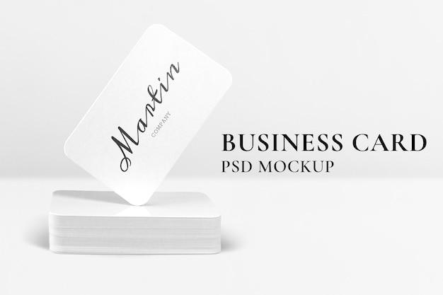 Mockup de tarjeta de visita mínima identidad de marca psd