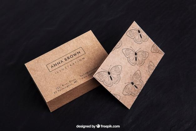 Mockup de tarjeta de visita orgánica