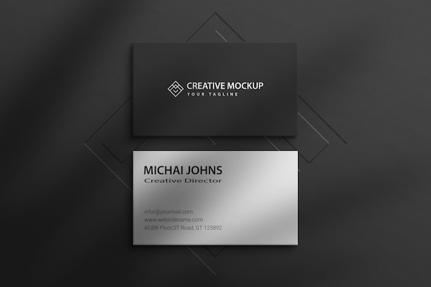 Mockup de tarjeta de visita psd paper frame mockup paper premium