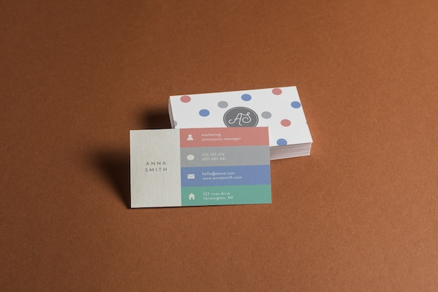 Mockup de tarjeta de visita