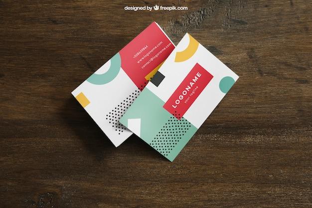Mockup de tarjetas de visita