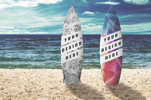 Mockup tavola da surf