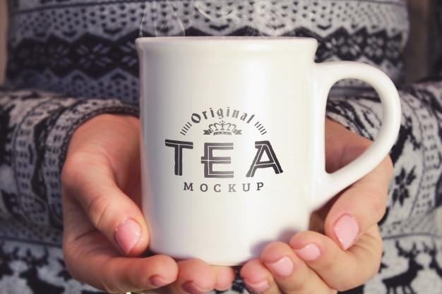 Mockup de taza de té