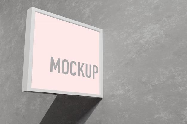 Mockup-teken buiten een winkel