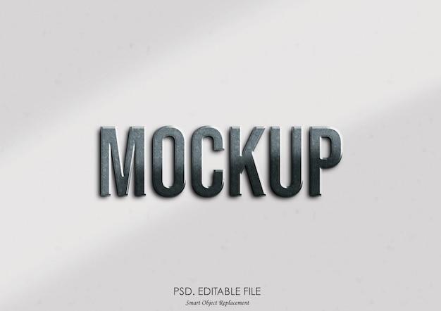 Mockup-teksteffectstijl