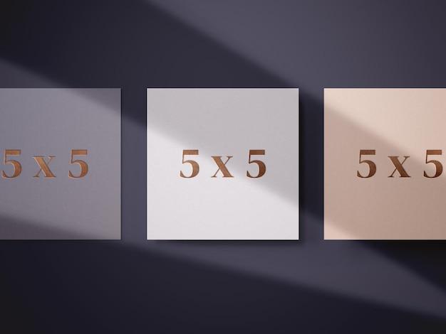 Mockup tempalte voor vierkante kaarten