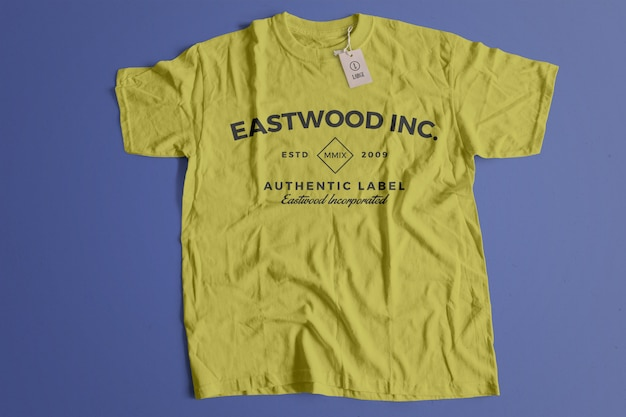Mockup tshirt di colore