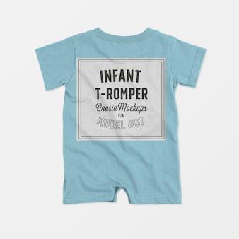Mockup tutina t-pagliaccetto neonato