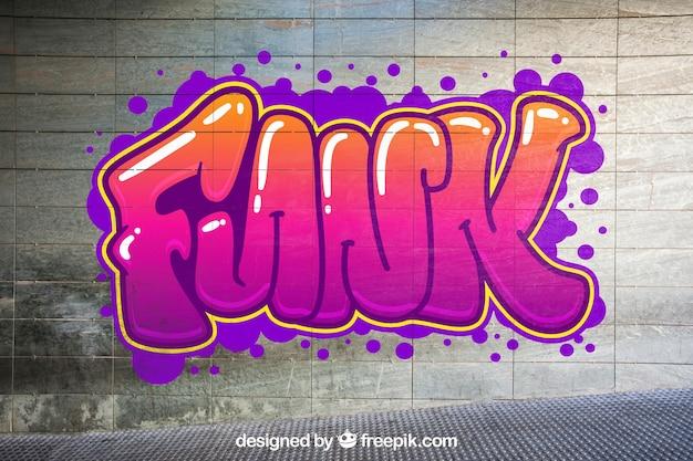 Mockup urbano de grafiti