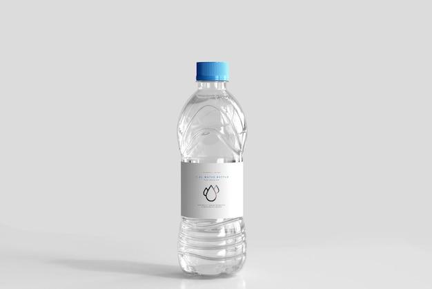 Mockup van 1,0 liter zoetwaterfles